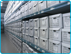 picture of Cambridge storage facilities           showing document archives